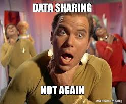 Sharing Meme - data sharing not again captain kirk choking make a meme