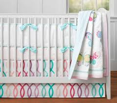 solid linen piped bumper pottery barn kids