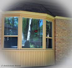 bay window with single hung windows on the sides and fixed window bay window with single hung windows on the sides and fixed window in the middle