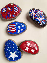 Painted Rocks For The 4th Of July Holidays Pinterest Rock