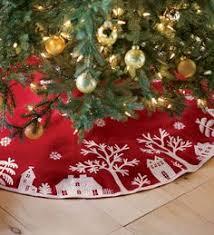 felt tree skirts happy holidays