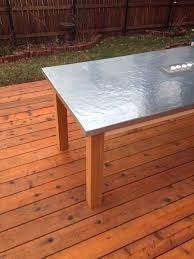 how to make an outdoor table how to make a diy outdoor zinc table before and after brookside