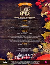 town inn marina thanksgiving dinner