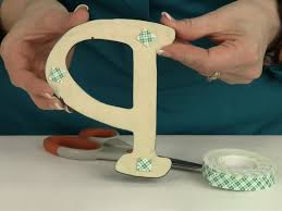 how to hang wood letters on a wall with tape craftcuts com