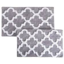 Gray Bathroom Rug Sets Non Slip Backing Bath Rugs U0026 Mats Mats The Home Depot