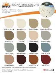 signature colors sundek concrete coatings and concrete repair