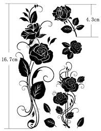 2pcs lot diy temporary dark rose tattoo sticker 3d tatuagem body
