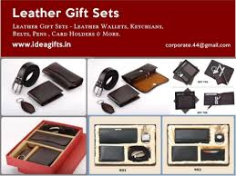 promotional leather gift sets corporate giftsets manufacturer leathe