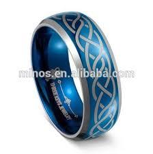 cincin tungsten carbide biru cincin tungsten 8mm mens tungsten carbide cincin kawin biru