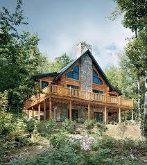 mountainside house plans mountainside log home the right angle
