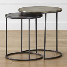 Modern Accent Furniture by Knurl Nesting Accent Tables Set Of Two Crate And Barrel