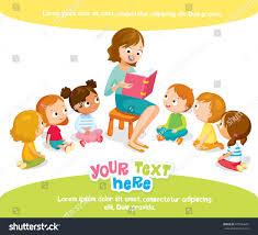for kids reading kids kinder garden stock vector 479544601