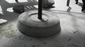 Patio Umbrella Holder by Christina And Ted Buy A House Diy Concrete Umbrella Stand