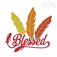 thanksgiving gather embroidery design