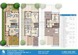 4 bedroom type a floor plans of bloom gardens phase 2