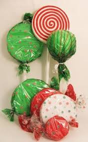 Hard Plastic Christmas Decorations Outdoors Peppermint Lollipop Decor Perfect Idea For The Shops Holiday