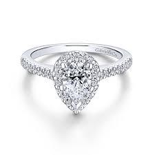 teardrop engagement rings platinum pear shape halo engagement ring er5828pt4jj