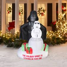 darth vader spirit halloween gemmy airblown christmas inflatables 6 u0027 darth vader and storm