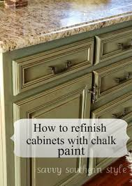 Chalk Paint Kitchen Cabinets Savvy Southern Style Kitchen Cabinets Tutorial
