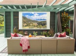 how to throw an outdoor movie night hgtv u0027s decorating u0026 design