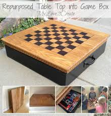 Repurposed Coffee Table by Table Top Into Game Box My Repurposed Life