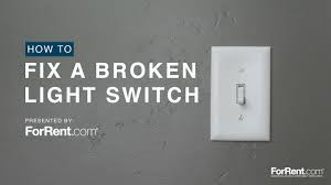 how to fix a broken light switch youtube