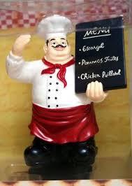 Italian Chef Decor 4 Pc Fat Chef Stove Burner Covers Round Metal Italian Bistro