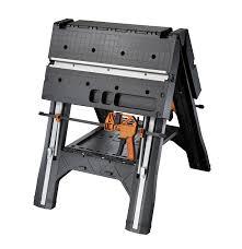 Keter Clamps Worx Pegasus Foldable Work Table U0026 Sawhorse Tool Craze