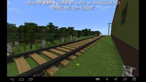 Mpce Maps Card With A Train And A Station For Minecraft Pe 0 14 0 Mcpe