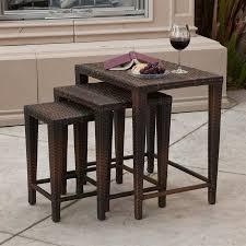shop best selling home decor 3 piece multi brown accent table set