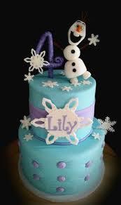 frozen cake fondant anna olaf elsa follow