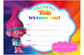 trolls birthday invitations lilbibby com