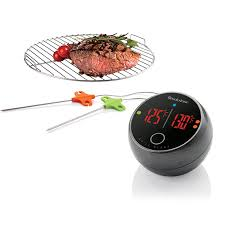 Backyard Grill Thermometer by Grill Alert Bluetooth Connected Thermometer At Brookstone U2014buy Now