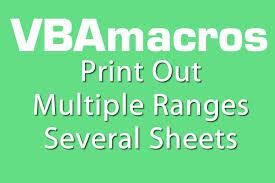 print out multiple ranges several sheets vba macros tutorial
