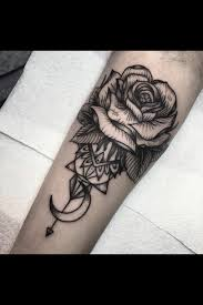 start of a sleeve ink tatting and