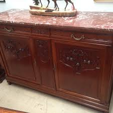 french walnut marble top buffet french antiques melbourne