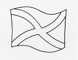scotland flag coloring page scotland flag outline coloring home