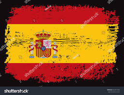grunge spain flagvector spanish flag stock vector 662814769