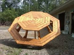 Picnic Table Plans Free Octagon by Best 25 Octagon Picnic Table Ideas On Pinterest Picnic Table