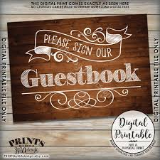 please sign our guestbook wedding sign guest book reception sign