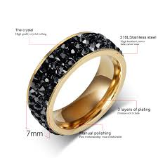 crystal rings wholesale images Crystal gold plated wedding rings for women jpg