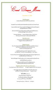 party menu planner template dinner menu template 5 plus printable menu designs holiday dinner menu template