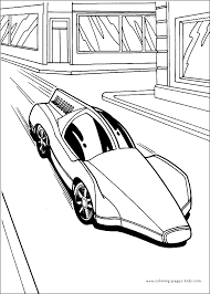 wheels color coloring pages kids cartoon