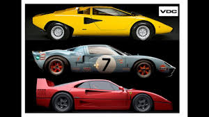 80s ferrari lamborghini countach ferrari f40 ford gt40 best supercars of