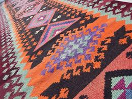 Aztec Area Rug Bohemian Rugs Zig Zag Pattern Area Rug Kilim Rug Vintage Turkish