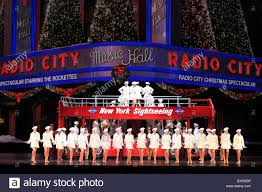 rockettes during new york at in radio