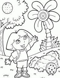 free dora explorer coloring pages print 590f30