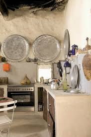 awesome unpolished wall traditional bohemian kitchen interior