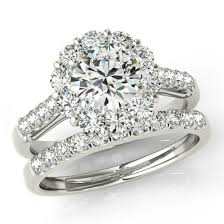 bridal set rings 1 carat forever one moissanite 1 13 ct diamond wedding set