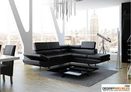 canape d angle noir atlas canapé d angle similicuir noir degriffmeubles com meuble